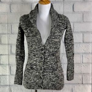 J. Crew Wool Blend Button Front Cardigan Sweater
